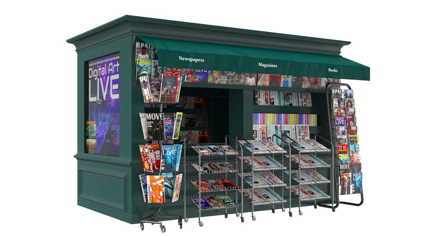3D news stand model