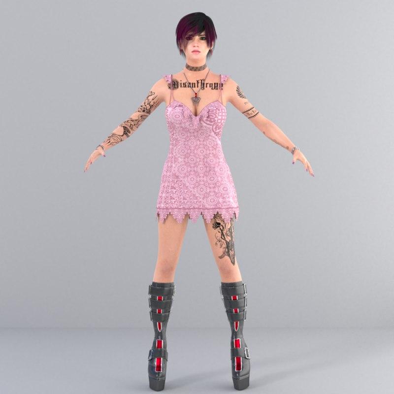 SEXY GIRL CHARACTER HIGH QUALITY-VALENTINA QUALIA