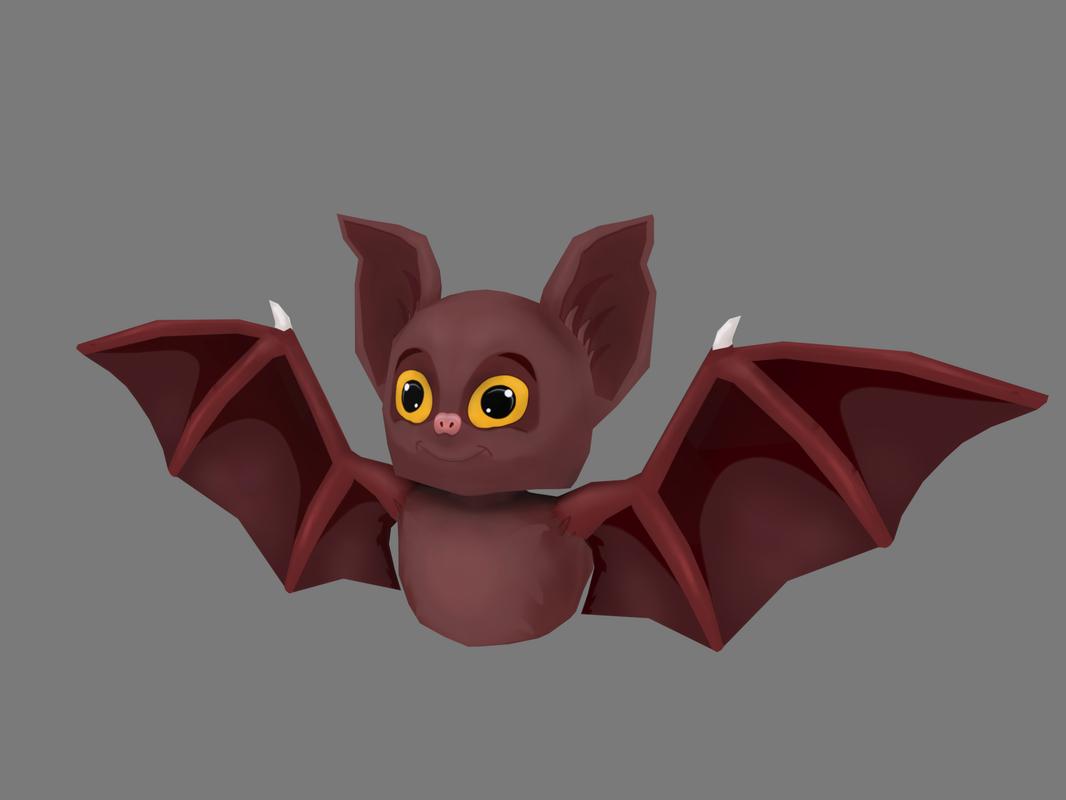 3D cartoon bat