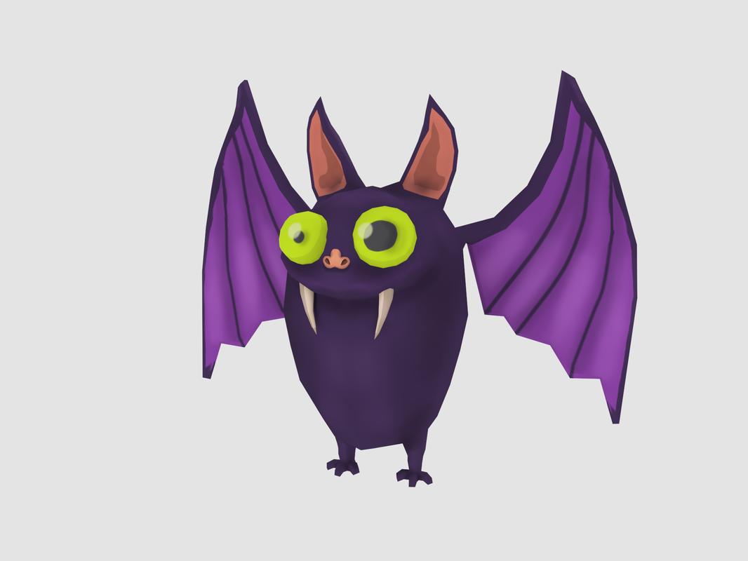 cartoon bat model
