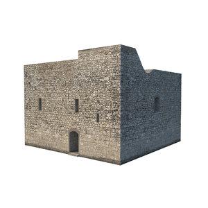 castle prison 3D model