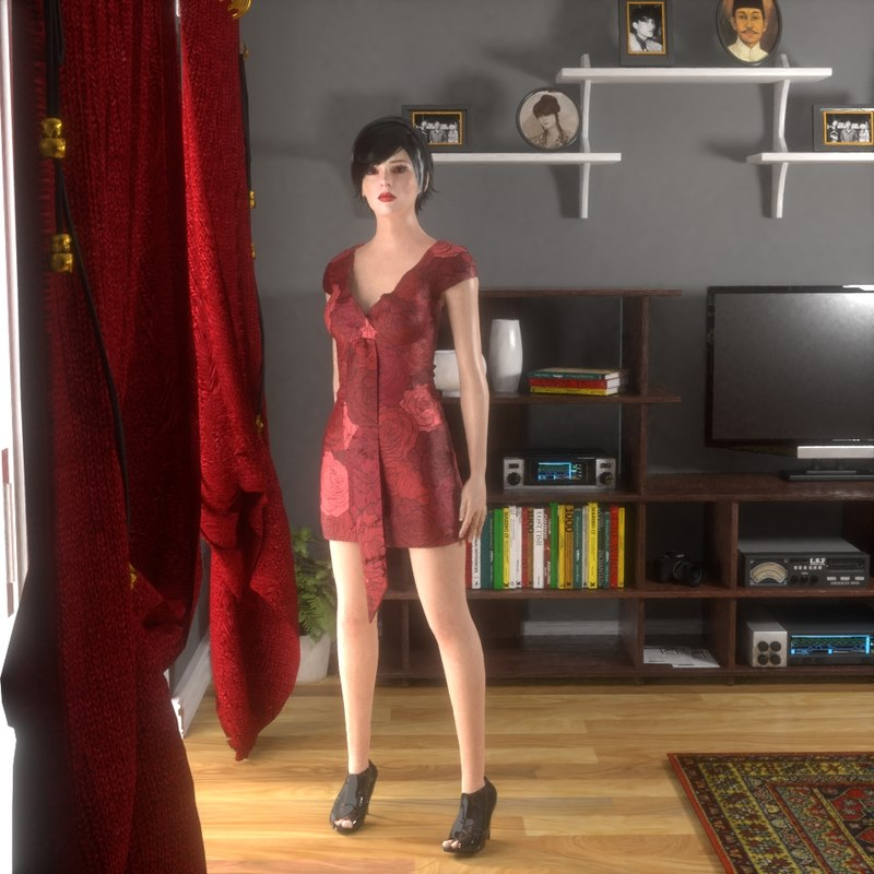 character sexy 3D model