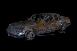 burnt sedan 3D model