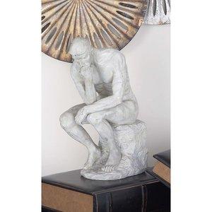 3D polystone thinker statue model