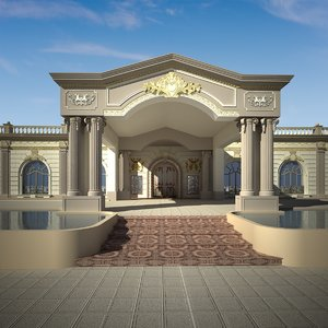 exterior majlis building luxury 3D