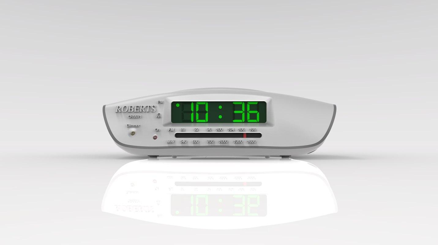 3D roberts cr9971 alarm clock