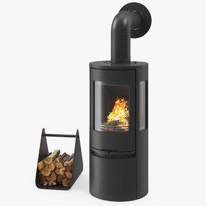 3D fireplace contura model