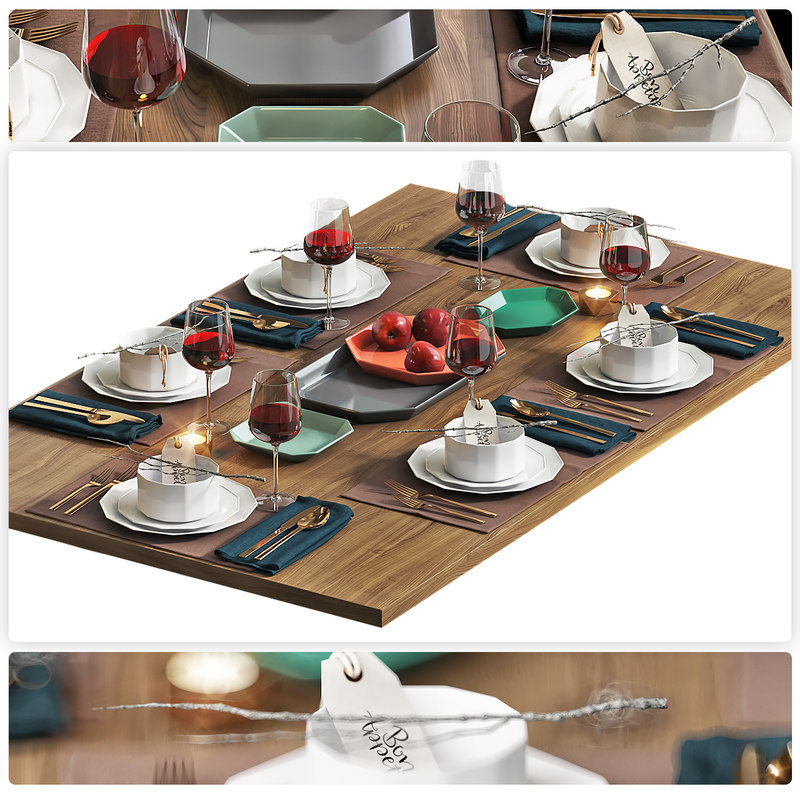 3D hq table setting 4