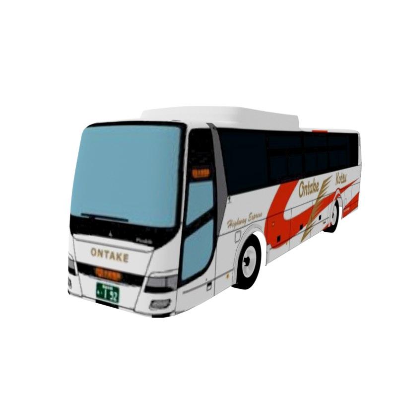 3D bus blender modeler model