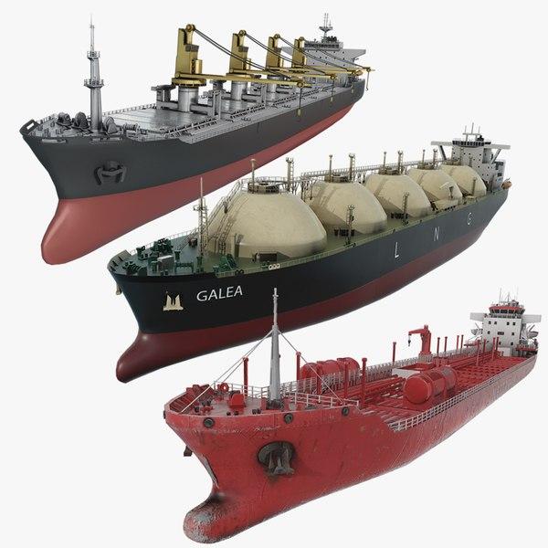 3D model bulker ship