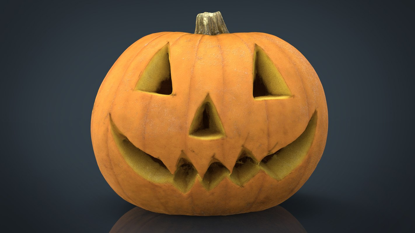 realistic halloween pumpkin 3D model
