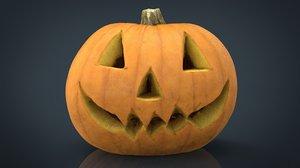 realistic halloween pumpkin 3D model