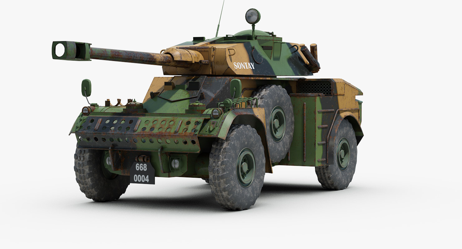 panhard aml 90 armoured car 3d model