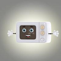 3d model cartoon microwave