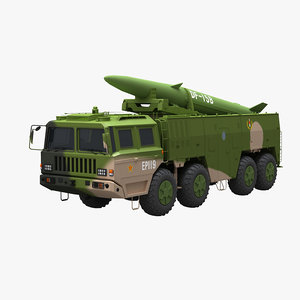 chinese df-15b missile rocket 3D model