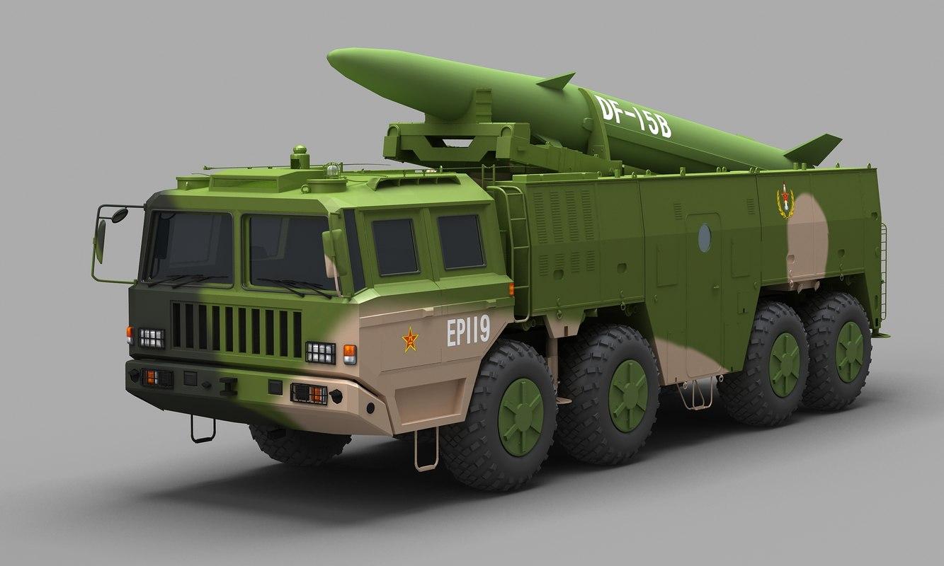 chinese df-15b missile rocket 3D model