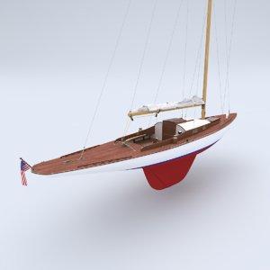 classic racing sloop alden model
