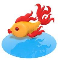 glass fish 3D
