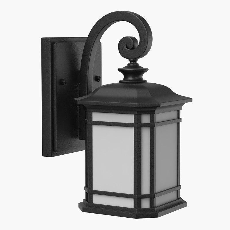 3D street lantern lights