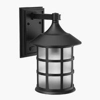 3D model street lantern lights