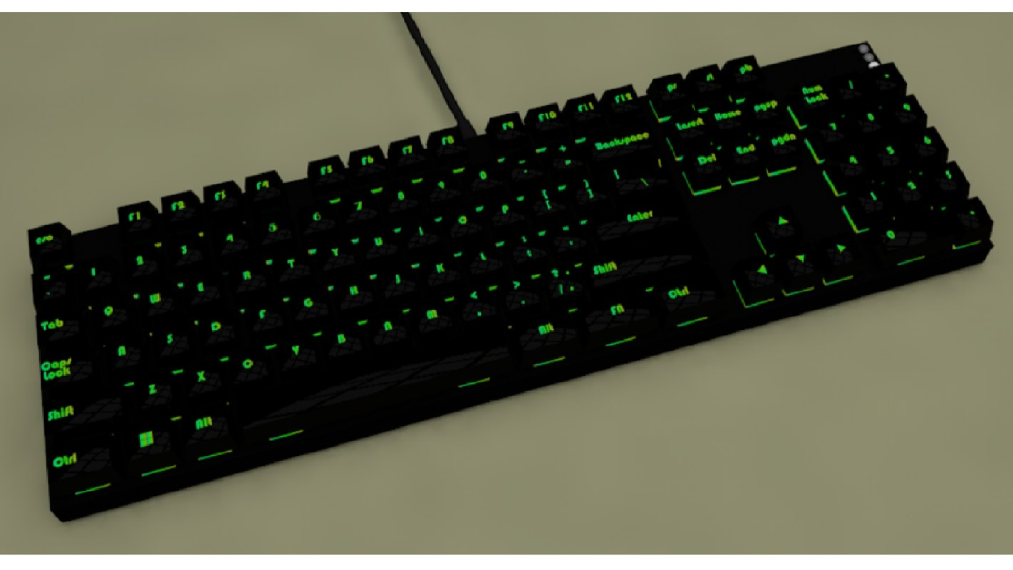 3D mechanical keyboard