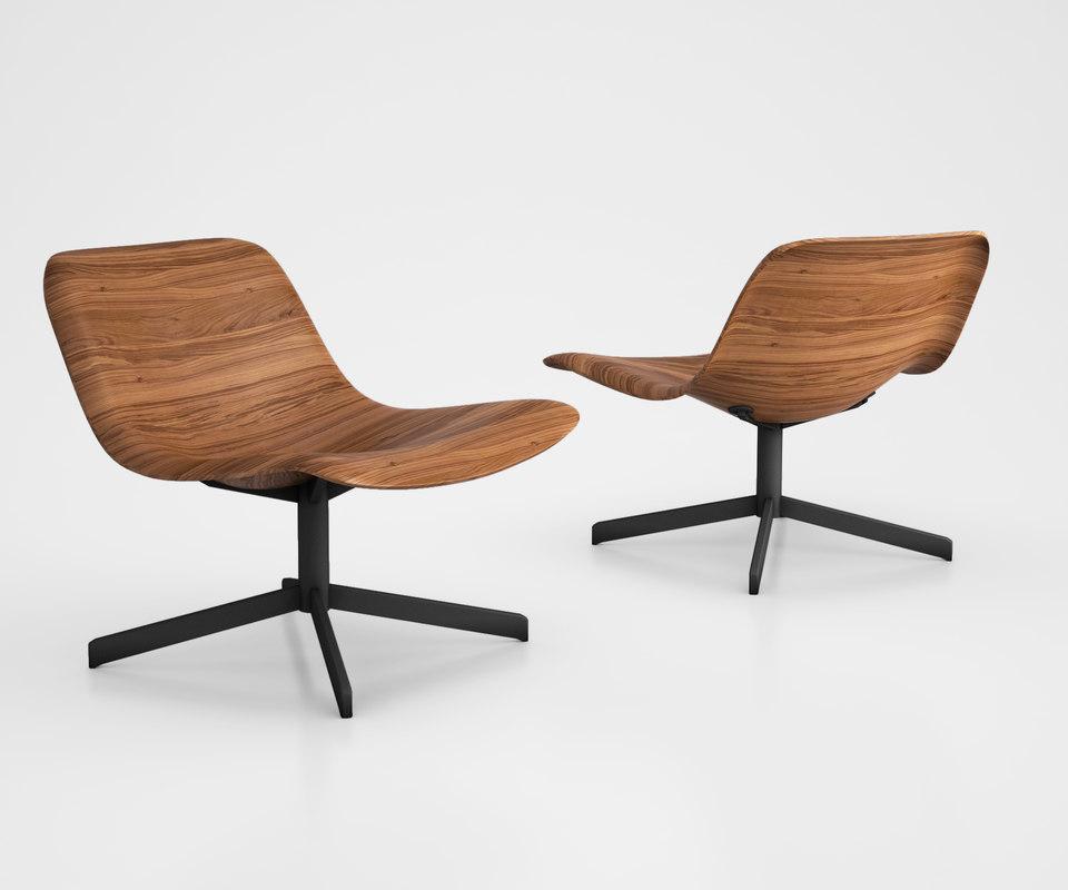 3D model nonesuch modern swivel lounge chair