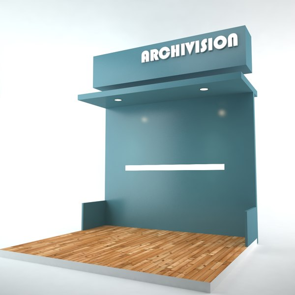 3D stand exposition chambre