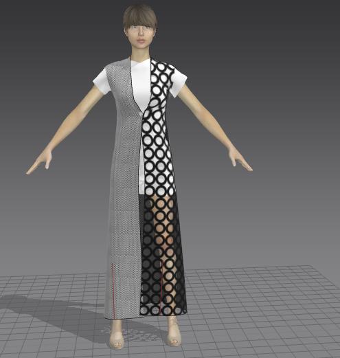 dress coat 3D model