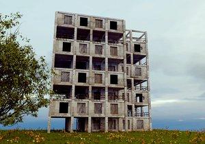 building damaged 3D