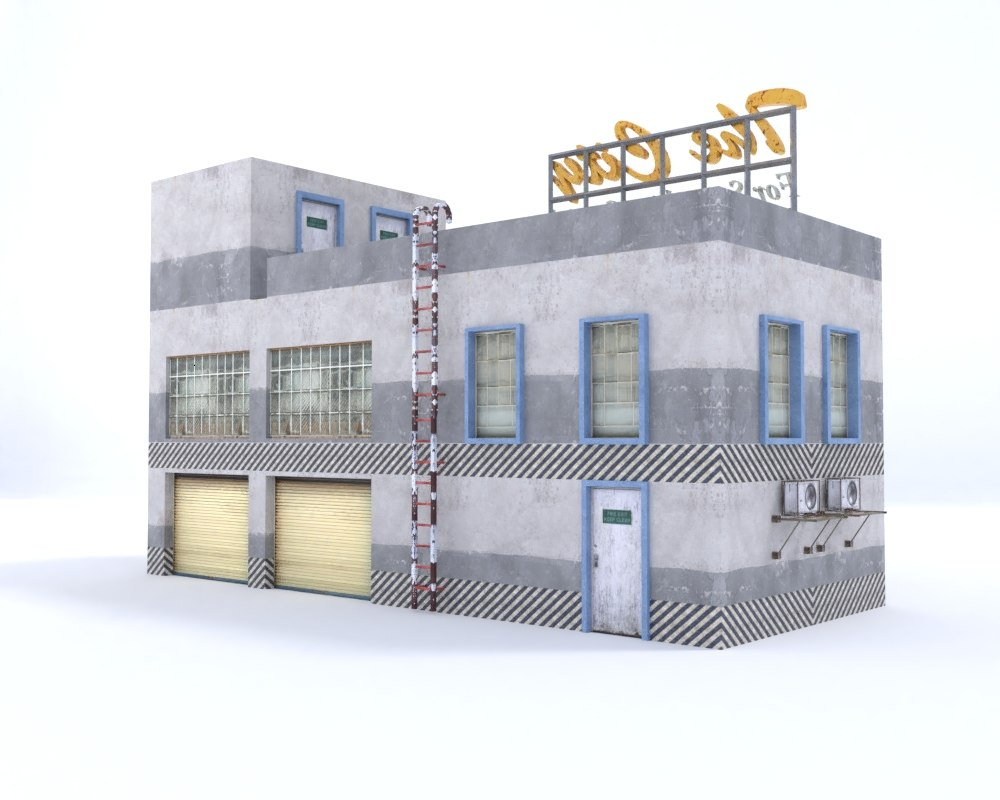 3D building store warehouse