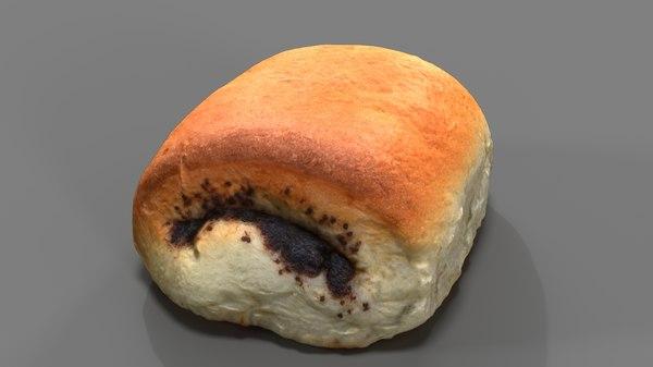 roll bun food model