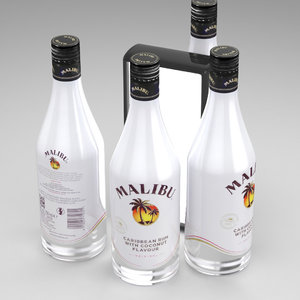 alcohol bottle malibu 700ml model
