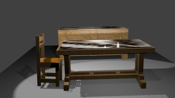 table furniture furnishing 3D model