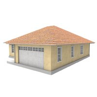 mediterranean style house 3D model