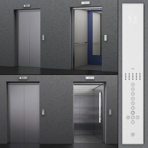 3D elevator kone monospace 500