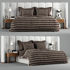 porada aida bed interior 3D model