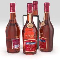 martell cognac alcohol 3D