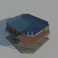 garage door electric 3D