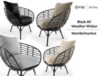 Black All Weather Wicker