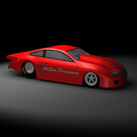 3D pro stock drag racing car model