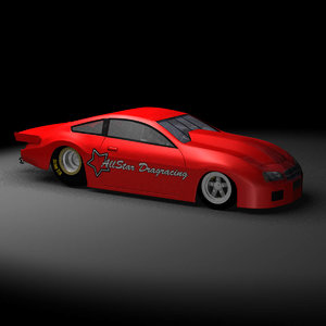 3D pro stock drag racing car model