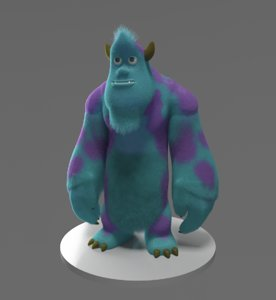 cartoon sullivan 3D model
