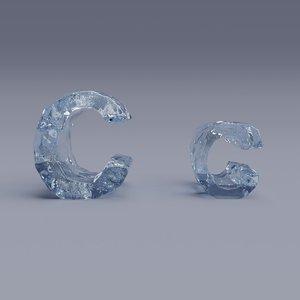 3D letter c model