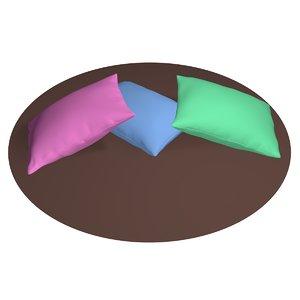 3D model pillow