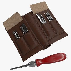 3D realistic soviet screwdriver set