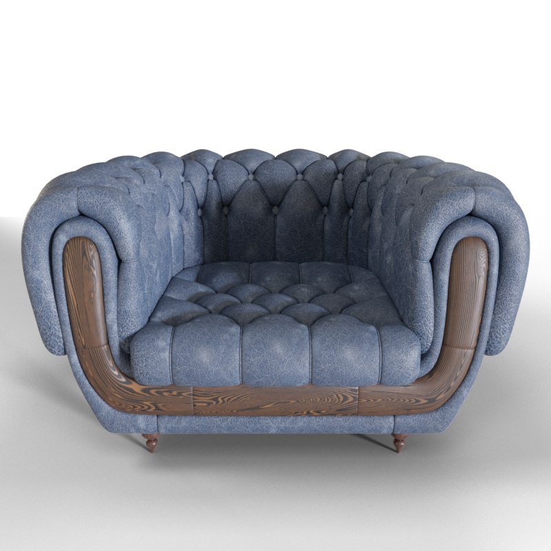 3D chesterfield style sofa model