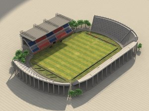 3d model of pedro bidegain stadium