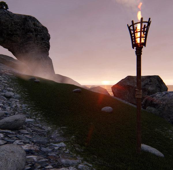 standing torch model