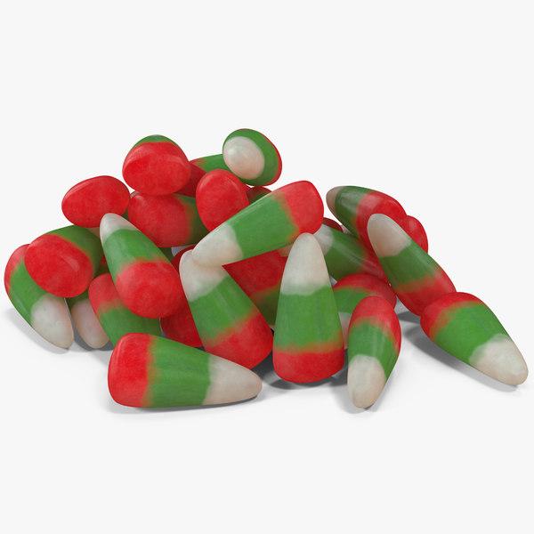 christmas candy corn 2 3D model