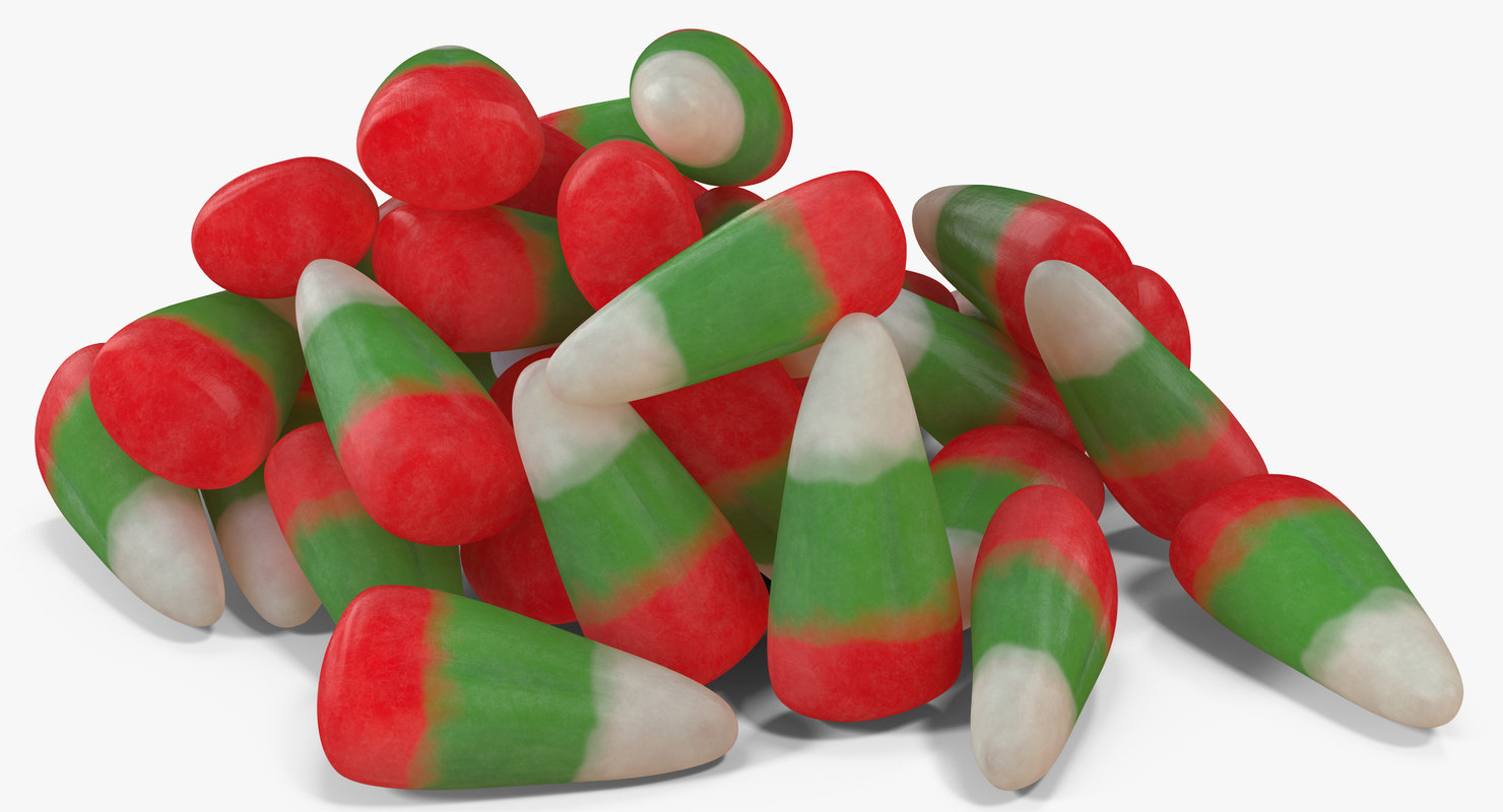 christmas candy corn 2 3D model